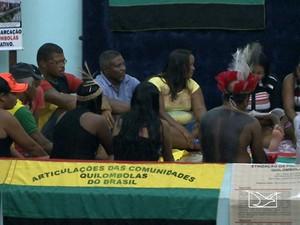 Comunidades quilombolas iniciam greve de fome em São Luís (Foto: Reprodução/TV Mirante)