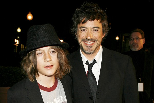 Robert Downey Jr. e Indio Downey em 2007 (Foto: Getty Images)