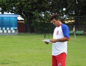 Danilo Queiroz - Treinador do Barras (Foto: Josiel Martins/GLOBOESPORTE.COM)