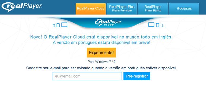 RealPlayer Cloud virou global, mas não está em português (Foto: Reprodução/Thiago Barros)