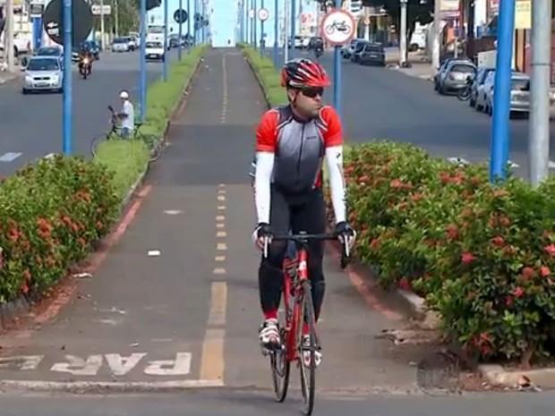 Número de bicicletas supera o de carros em Indaiatuba, SP (Foto: Reprodução/EPTV)