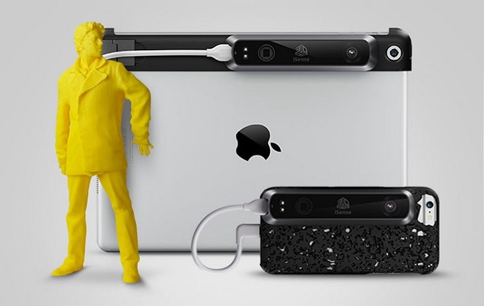 Novo iSense para iPhone pode ajudar a popularizar impressão 3D (Foto: Divulgação/3D Systems)