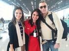Fábio Assunção e a namorada, Pally Siqueira, viajam para a Alemanha