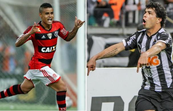 Flamengo e Atlético-MG se enfrentam no Campeonato Brasileiro. (Foto: Montagem / Globoesporte.com)