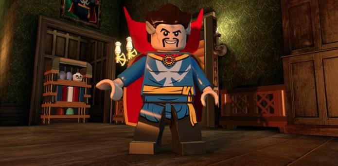 Doutor Estranho em formato de LEGO (Foto: Divulgação/Warner)