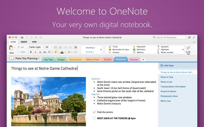 OneNote está disponível, enfim, para Mac (Foto: Divulgação/Microsoft)