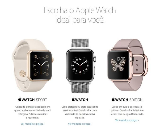 Empresa disponibiliza três versões diferentes e diversos modelos (Foto: Divulgação/Apple)