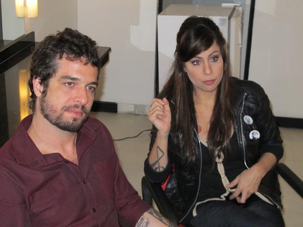 Pitty conversa com o G1 antes de apresentação em Santos (Foto: Leandro Campos/G1 Santos)