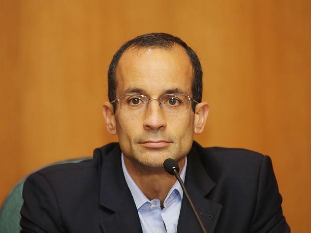 Marcelo Bahia Odebrecht, presidente da holding Odebrecht S.A, participou da CPI da Petobras, em Curitiba, nesta terça-deira (1º) (Foto: Giuliano Gomes/PR PRESS)