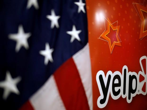 Logo do Yelp em seu escritório em Chicago (EUA) (Foto: REUTERS/Jim Young)