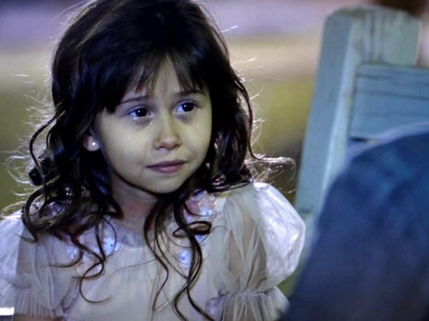Bella chora na frente de Caíque (Foto: TV Globo)