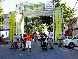 Portal da segurança no carnaval de Salvador, Bahia (Foto:  Amanda Oliveira/GOVBA)