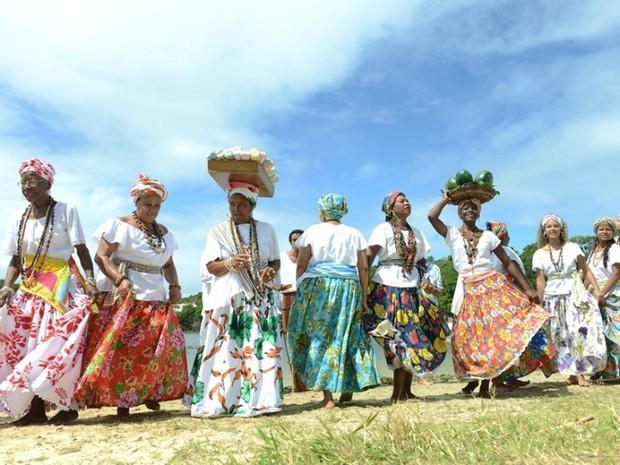 Ganhadeiras de Itapuã se apresentaram no encerramento da Olimpíada 2016 (Foto: Ricardo Prado/Divulgação)