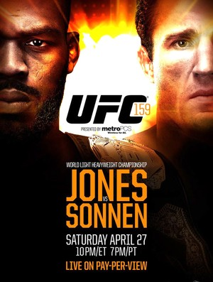 poster do UFC 159 com Jon Jones x Chael Sonnen (Foto: Divulgação)