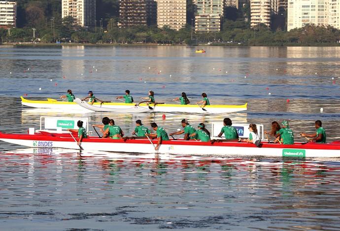 canoagem abertura campeonato na Lagoa (Foto: André Durão / Globoesporte.com)