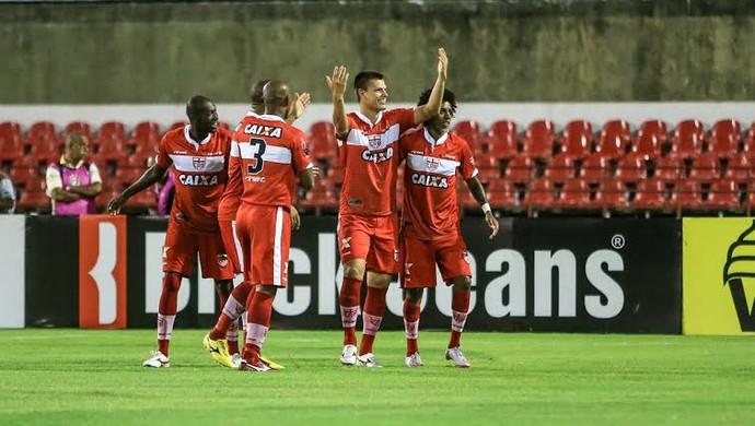 Diego Jussani, comemoração (Foto: Ailton Cruz/Gazeta de Alagoas)
