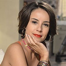 Andréia Horta diz que saía leve das gravações de barraco (Amor Eterno Amor/TV Globo)