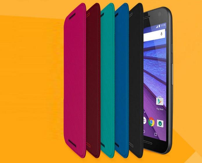 Capa Flip Shells com modelos coloridos para Moto G 3 (Foto: Divulgação/Motorola)