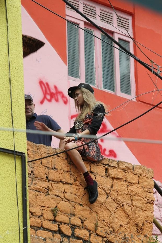 Cara Delevingne no Rio de Janeiro (Foto: Henrique Oliveira / FotoRioNews)