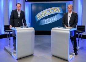 Pezão e Crivella fazem o último debate na TV Globo (Alexandre Durão/G1)