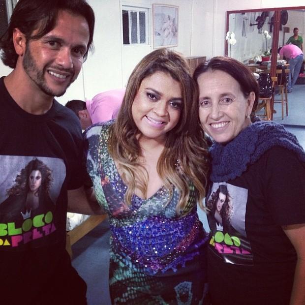 Preta Gil, o ex-marido Carlos Henrique Lima e a ex-sogra Reginalda (Foto: Reprodução/Instagram)