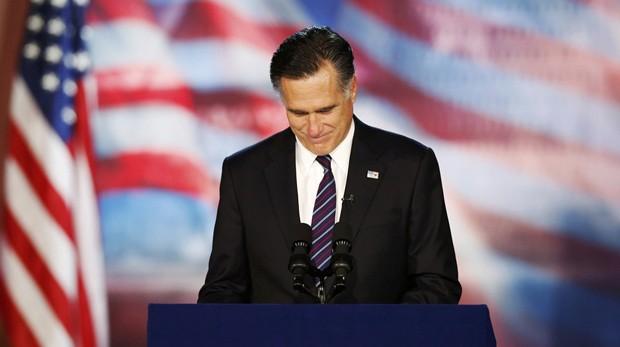 Romney discura nesta quarta-feira (7) em Boston (Foto: Mike Segar)