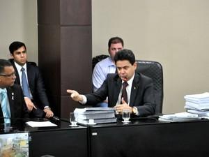 Eder Moraes prestou o segundo depoimento nesta terça (Foto: Amanda Sampaio/ G1)