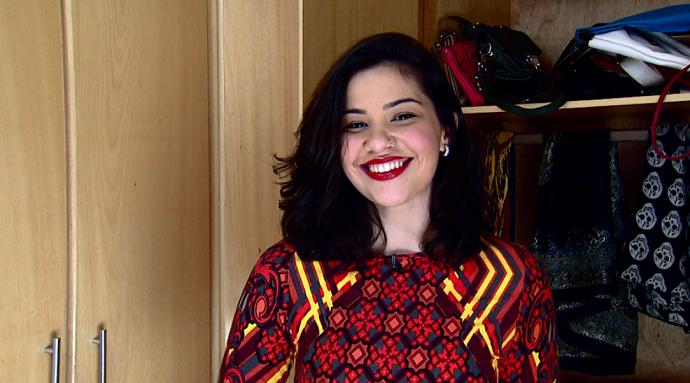 Stella de Vasconcelos, blogueira e publicitária, sabe tudo de brechós  (Foto: reprodução EPTV)