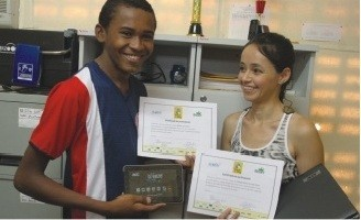 Estudante da rede pública vence concurso nacional sobre energia limpa (Foto: Valdir Rocha/Secretaria de Educação do Estado)