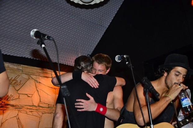 Marcello Novaes e Pedro Novaes durante show no Rio (Foto: Henrique Oliveira/Ag News)