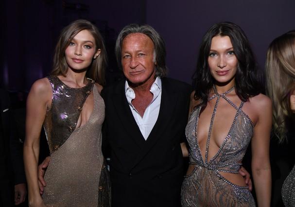 Gigi, Mohamed e Bella Hadid (Foto: Getty Images)