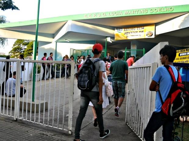 Volta às aulas em Campo Grande, MS (Foto: Tatiane Queiroz/ G1MS)