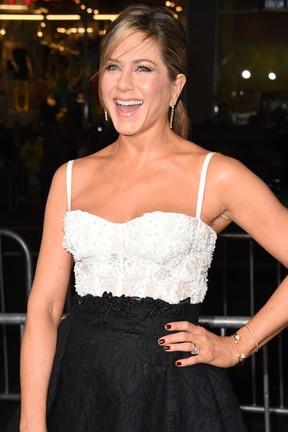 Jennifer Aniston em première de filme em Los Angeles, nos Estados Unidos (Foto: Robyn Beck/ AFP)
