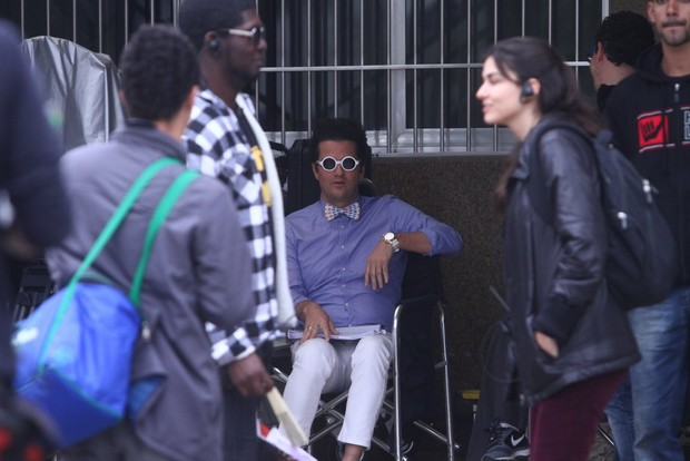 Marcelo Serrado filma longa 'Crô' com  Milhem Cortaz em São Paulo (Foto: Leo Franco  Agnews)