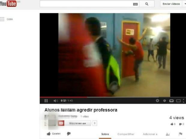 briga na escola maria quevedo (Foto: Reprodução/You Tube)