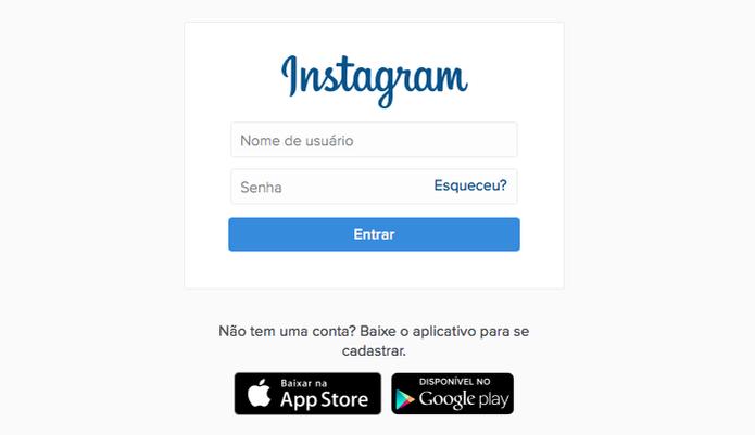 Faça login em sua conta do Instagram (Foto: Reprodução/Helito Bijora)  (Foto: Faça login em sua conta do Instagram (Foto: Reprodução/Helito Bijora) )