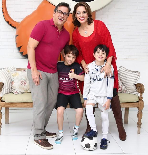 Fernando Vieira e Suzy Rêgo celebram aniversário dos filhos (Foto: Manuela Scarpa/Brazil News)