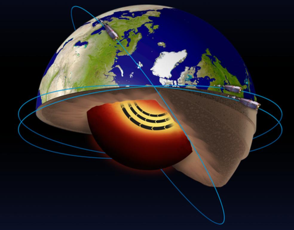 Resultado de imagem para O misterioso rio de ferro líquido descoberto no centro da Terra