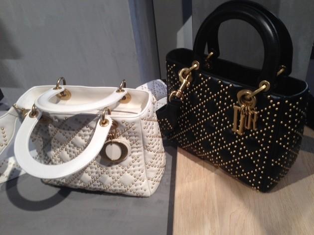 Bolsas Dior na Semana de Moda de Paris.
