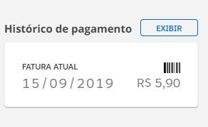 Histórico de pagamento (Foto: Globo Premium)