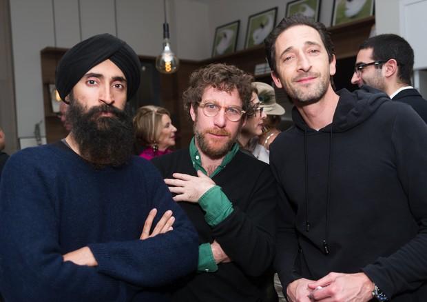 Waris Ahluwalia, Dustin Yellin and Adrien Brody (Foto: Divulgação)
