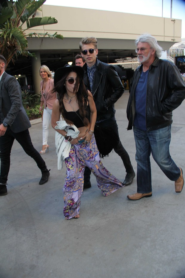 Vanessa Hudgens e o namorado, Austin Butler (Foto: Keith Johnson / Splash News)