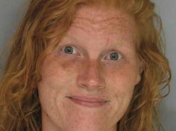 Ashley Gabrielle Huff havia sido presa após policial confundir restos de comida com droga (Foto: Hall County Jail)
