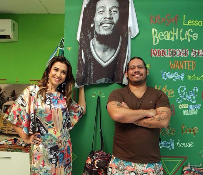 Designer lança coleção de roupas inspiradas no reggae e em Bob Marley (Foto: Gshow/Rede Clube)