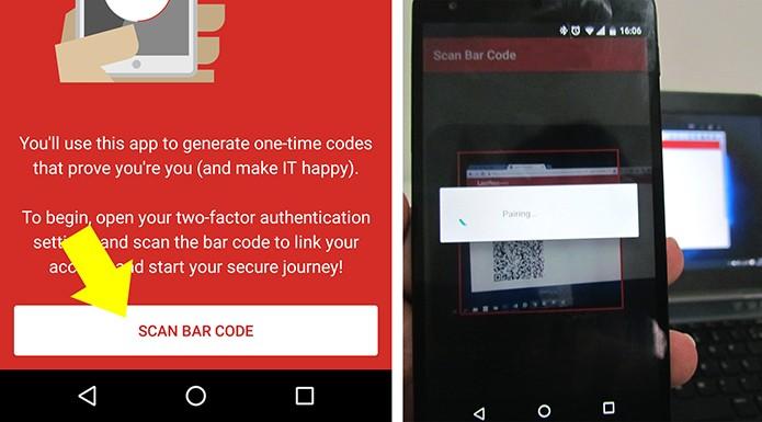 Escaneie o código QR que aparece na tela do navegador (Foto: Reprodução/Paulo Alves)