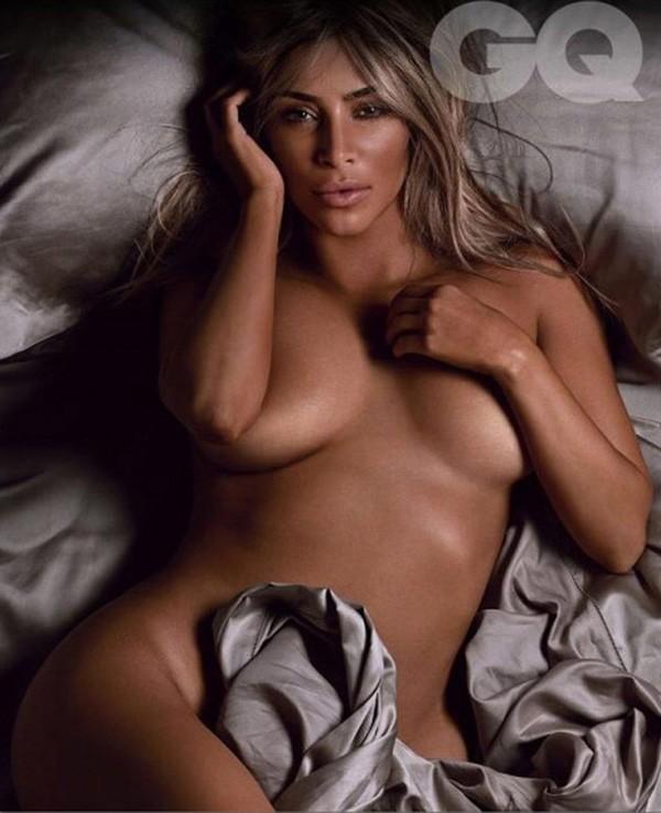 Kim Kardashian para a revista GQ (Foto: Reprodução)