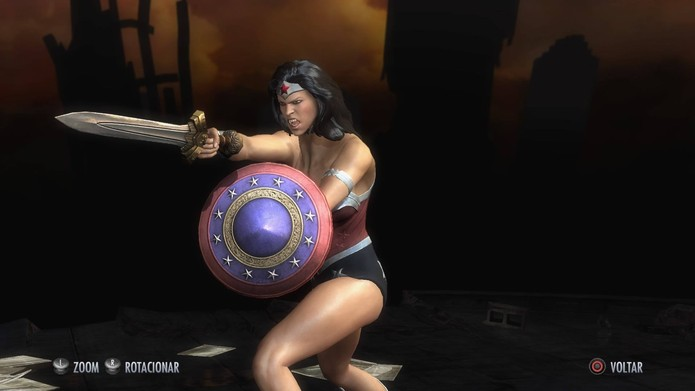 Mulher-Maravilha dos Novos 52 em Injustice (Foto: Reprodução/Felipe Vinha)