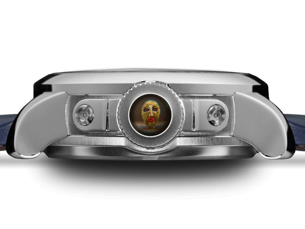 Obra microscópica de Richard Wigan, dentro do relógio Greubel Forsey (Foto: Reprodução)