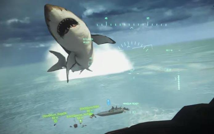 Lendário tubarão gigante pode ser invocado no game (Foto: Reprodução/Youtube)