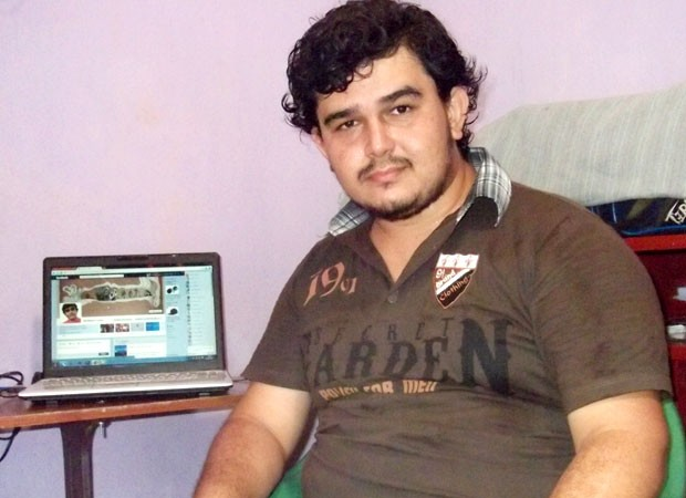 Wellisson, de 24 anos, comprou seu primeiro computador em 2010 para fazer pesquisas para a faculdade (Foto: Arquivo Pessoal)